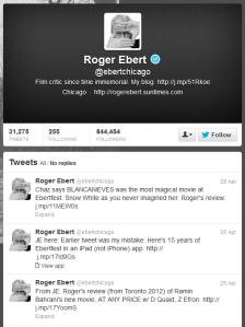 Roger Ebert's Twitter Feed