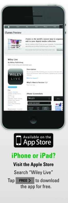 iTunes Wiley Live App